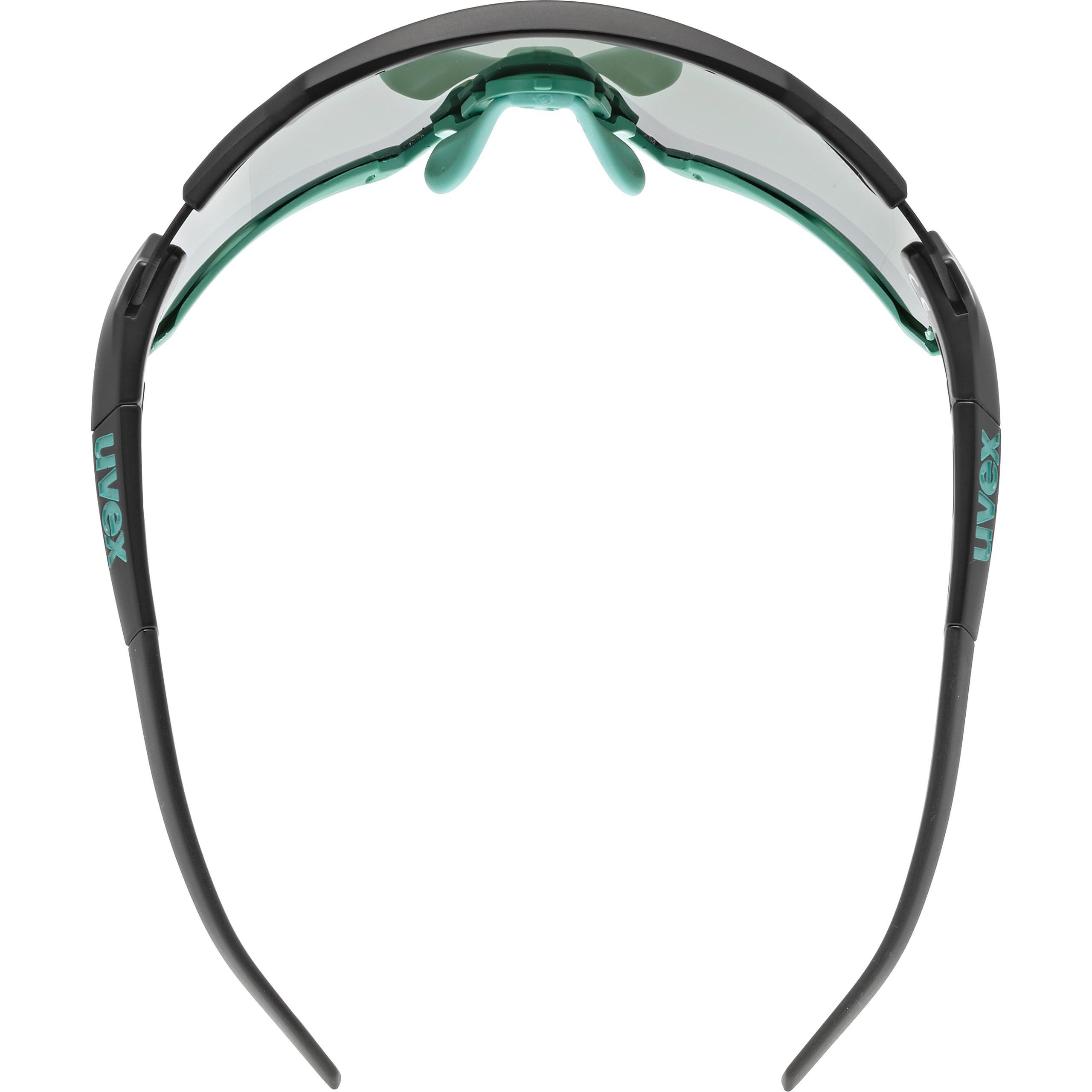 uvex Sportstyle 228 Gafas de Deporte Black Mat Mint//Mirror Green Unisex-Adult One Size